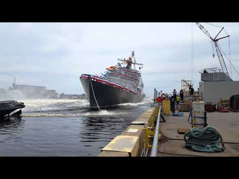 USS Little Rock Christening