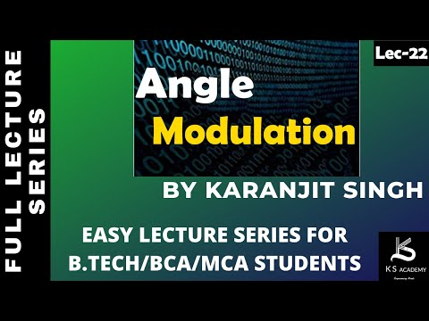 ANGLE MODULATION ||COMMUNICATION SYSTEM||BTECH||4TH SEM ||PART 21