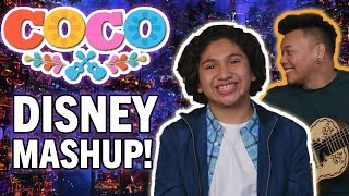 Un Poco Loco DISNEY MASHUP with Anthony Gonzalez, Miguel in Coco! thumbnail