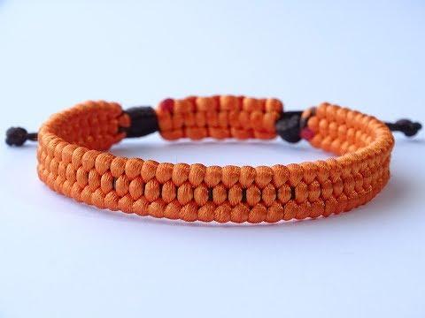 DIY Macrame Style Bracelet-Trilobite Weave Simple 1 Working Strand/Square-Cobra Sliding Knot/CBYS