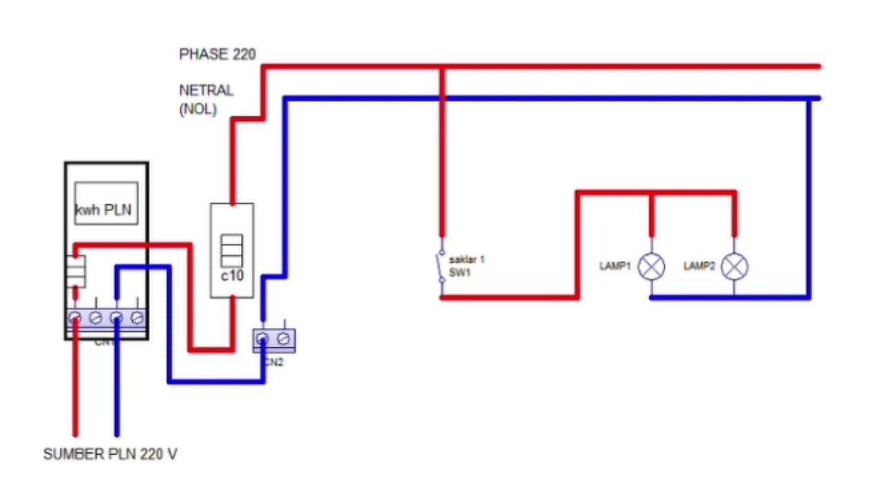 Skema Diagram Instalasi Listrik Rumah Tinggal