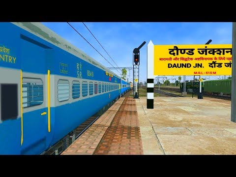 Loco change at Daund | Karnataka Exp in MSTS Open Rails by Sumit Mehrotra | Khandesh Route