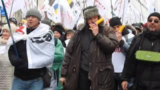 Многотысячная колонна SaveФОП идет по проспекту Победы 28 01 21