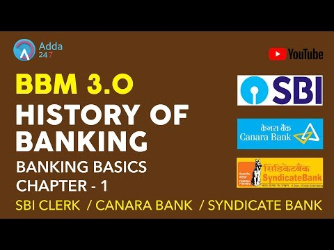 Banking Basics Chapter - 1 - History Of Banking #BBM 3.0 | SBI CLERK, SYNDICATE, CANARA BANK