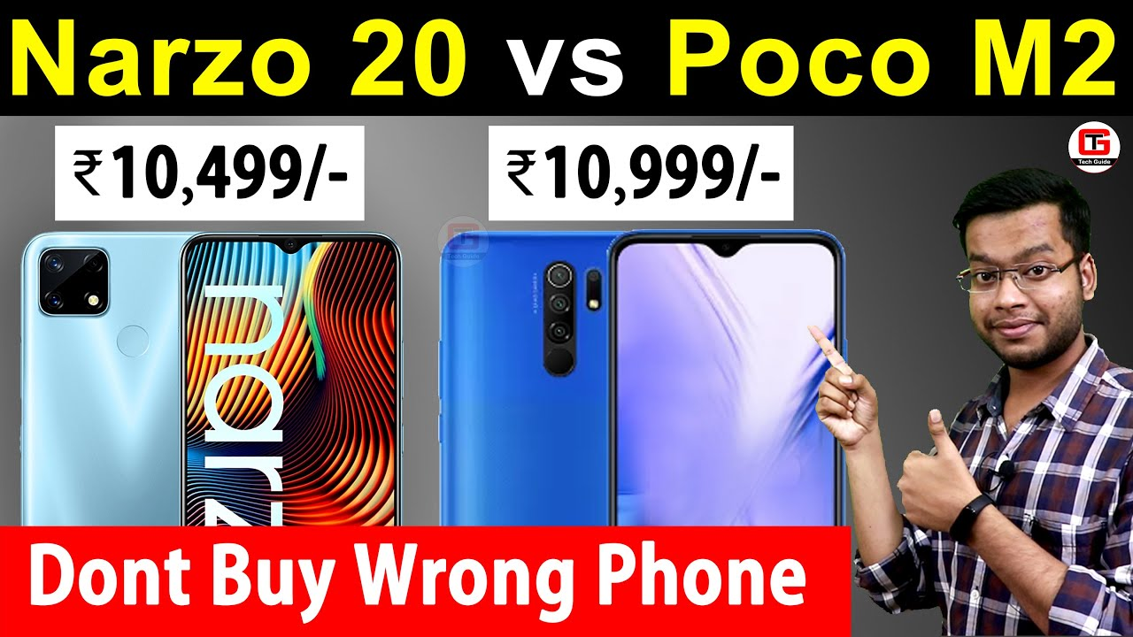 Narzo 20 vs Poco M2 - Best Smartphone Under 11000? Poco M2 vs Realme Narzo 20 Camera, Battery, Game