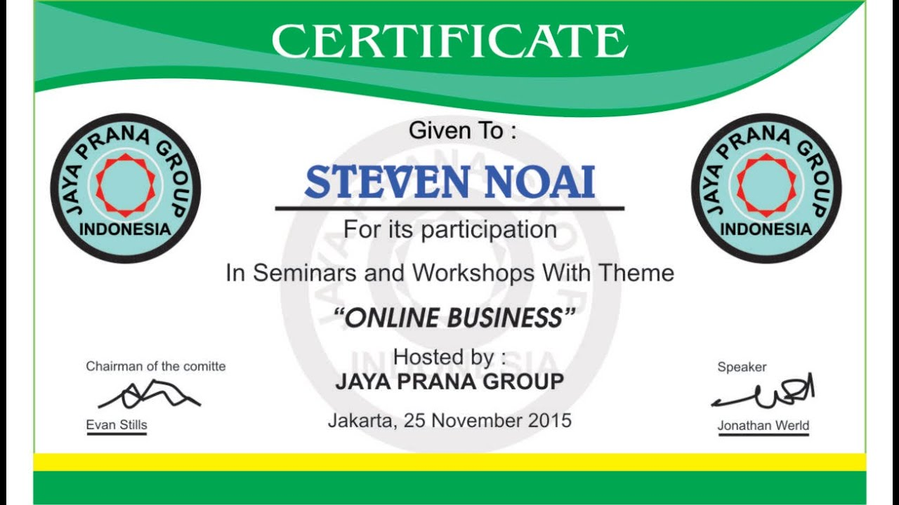Corel Draw Tutorial   Design Certificates (Seminars And Workshop Online  Business)   YouTube  Design Of Certificate Of Participation