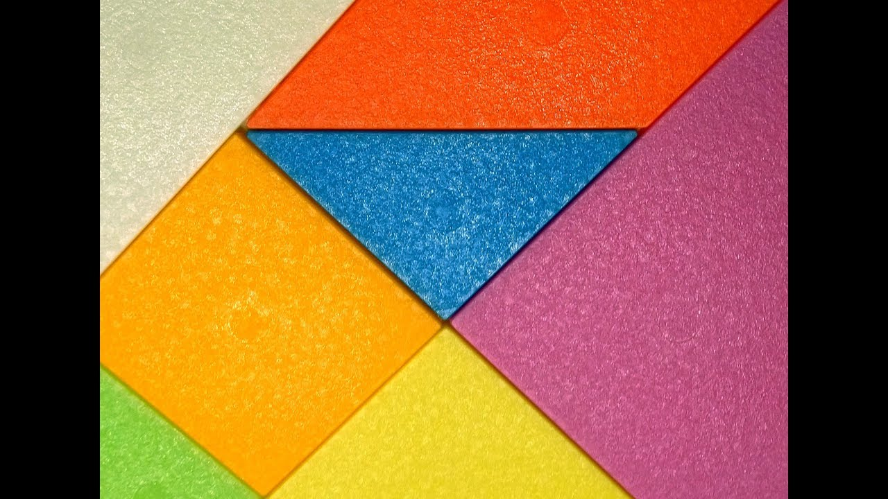 building blocks with tangram learn numbers colors