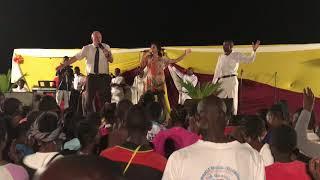 Singing  in Kenya, Africa at  Jesus Crusade
