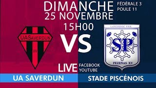 #Fédérale3Poule11, J10 : UA Saverdun / Stade Piscénois