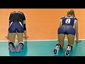 Volleyball Girls Funny Cat Stretch