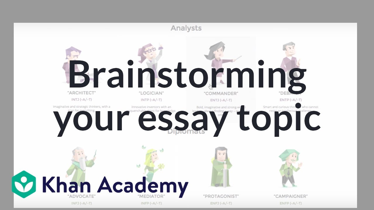 Essay brainstorming activities