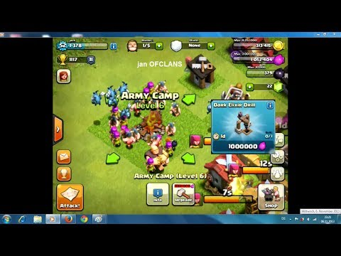 Army Camps level 6 and  Building  Dark Elixir Drill