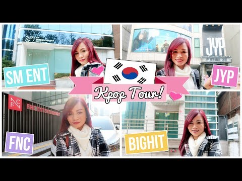 KPOP TOUR in KOREA | Going to SM, BIGHIT, JYP and FNC (2017)