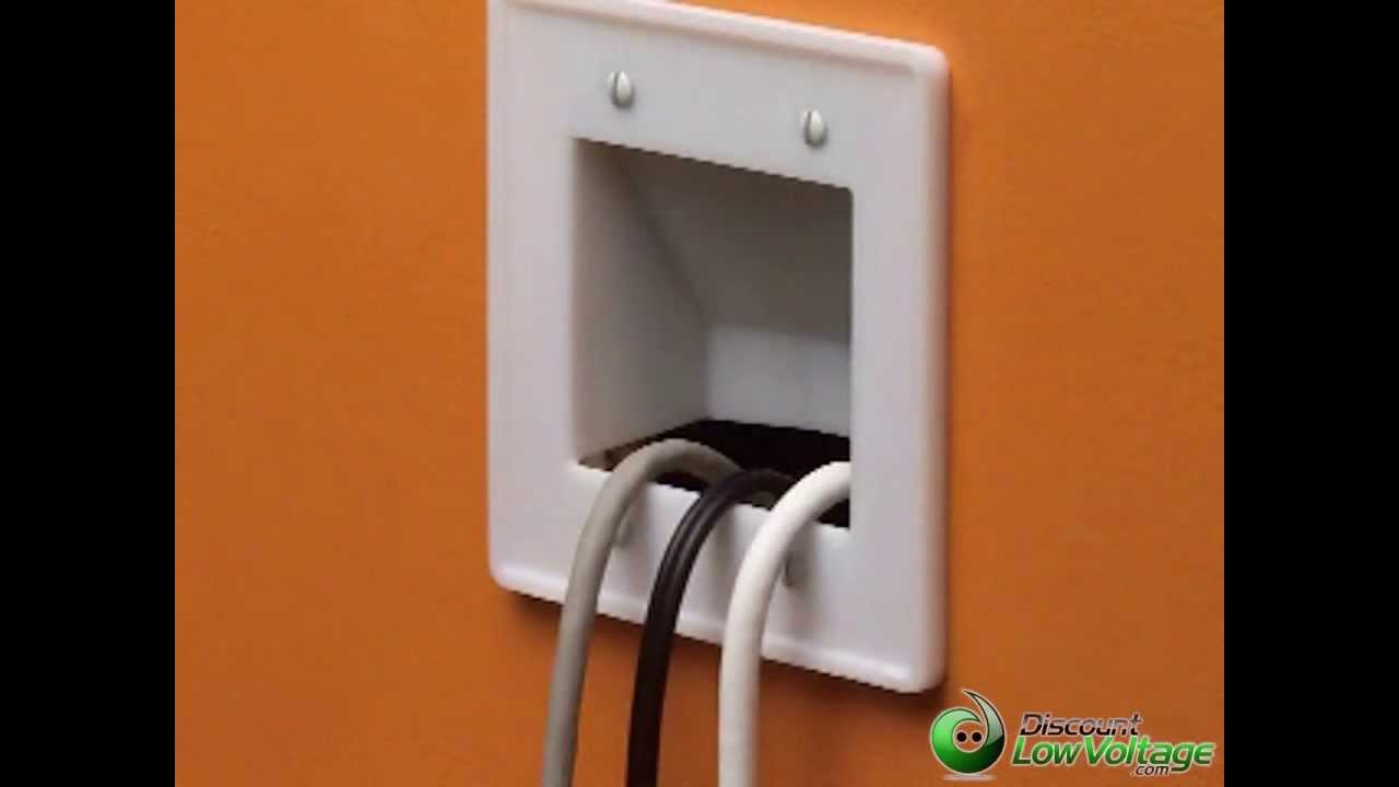 Hide TV Cables in wall - Clean organized look - YouTube