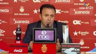 Rueda de prensa de Salmerón RCD Mallorca vs UCAM Murcia (0-0)