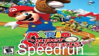Mario Super Sluggers Speedrun - 28:03.27