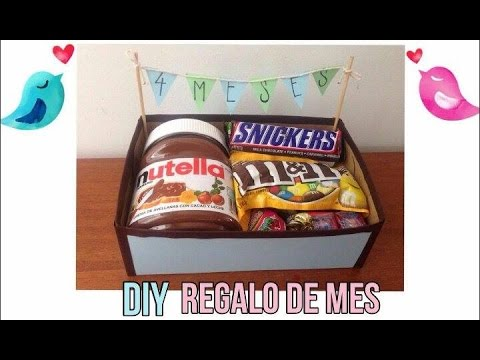 Qu le regalo a mi novio o novia de mes diy mesiversario youtube - Que regalarle a tu novio en el primer mes ...