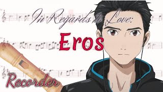 In Regards To Love: Eros Yuri!!! On Ice Recorder