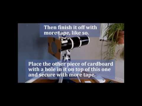 how to make a diy solar filter using thin film sheets -