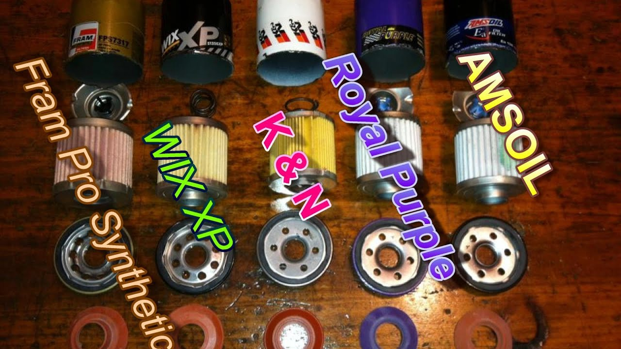 Choosing The Best Oil Filter Fram Vs Wix Vs K Amp N Vs Others Youtube