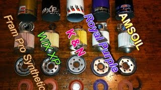 Choosing the BEST OIL FILTER...FRAM vs WIX vs K&N vs Others