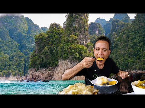 Eating Lunch at Thailand's Most Beautiful Lake! | Cheow Lan Lake (เชี่ยวหลาน)