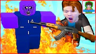 minecraft напал на Roblox игра про стрелялки по зомби в Роблоксе от Фаника