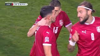 Srbija - Rusija   Gol Radonjića za 1:0   SPORT KLUB FUDBAL