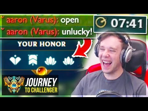 HOW DID I MAKE THEM OPEN WHILE AUTO-FILLED LOL - Journey To Challenger | League of Legends thumbnail