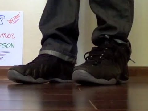 a1b995543dc Nike Air Foamposite One Stealth ON FOOT - YouTube