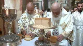 Патриархи двух Церквей совершили литургию(24 мая 2012 года, в праздник Вознесения Господня, день памяти святых равноапостольных Мефодия и Кирилла, учите..., 2012-05-24T18:38:13.000Z)