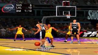 NBA Shootout 2004 - San Antonio Spurs vs Los Angeles Lakers - PS1