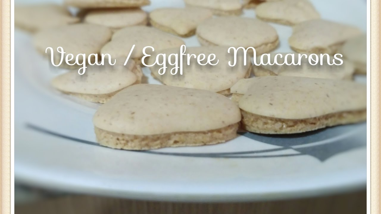 Vegan / Eggless Macaroons - YouTube