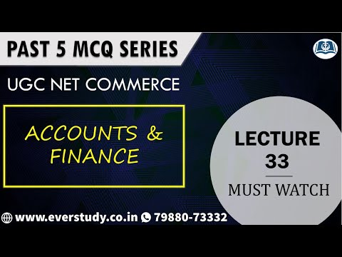 Past 5 MCQ Series - Lecture 33 - Accounts and Finance | NTA UGC NET Commerce