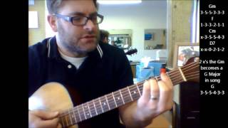 "How to play ""Crazy"" by Ray LaMontagne on acoustic guitar"