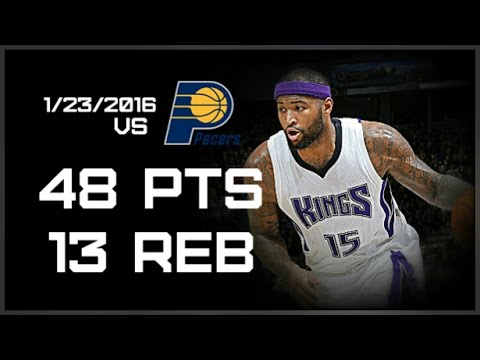 DeMarcus Cousins Full Highlights vs Pacers 48 pts, 13 reb (1/23/2016) HD