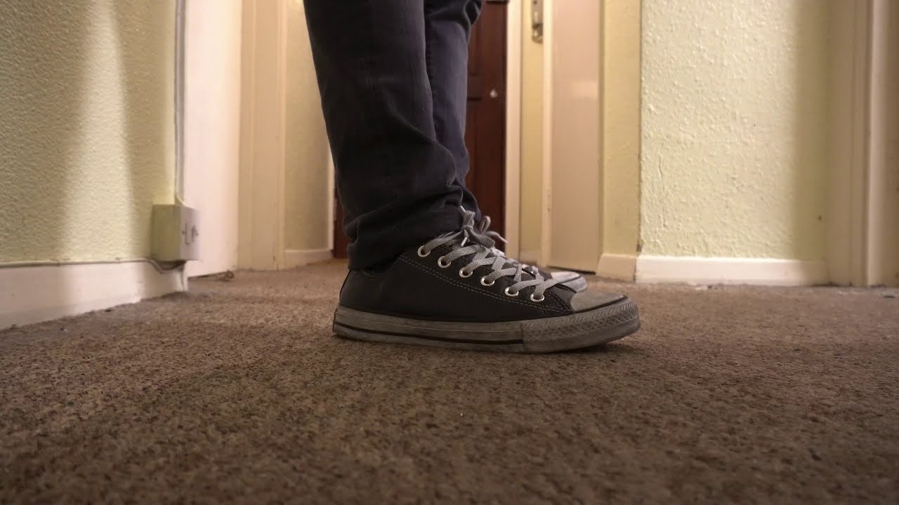 Chuck Taylor All Star Leather Smoke Low Top   Unboxing On feet