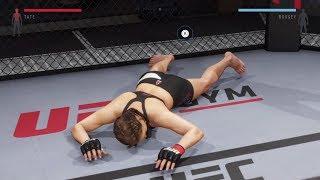 Ronda Rousey digging through Miesha Tate's stomach (UFC 2: Ryona Edition)