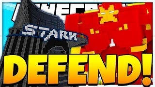 IRON MAN SUPERHERO DEFENSE Minecraft Modded Mini Game