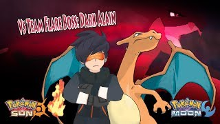 Pokemon Sun and Moon: Alain Vs Dark Alain (Team Flare Boss Alain, Alternate Alain)