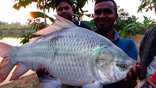 Big Catla Fishing And Hunting Videos By Lava In The Village Pond
