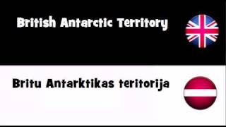 VOCABULARY IN 20 LANGUAGES = British Antarctic Territory