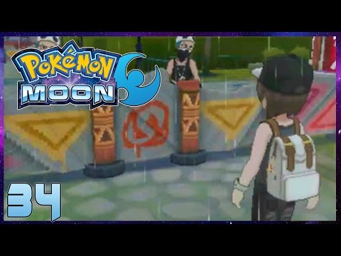 Pokemon Moon Part 34 Po Town Team Skull Base Gameplay Walkthrough ( Pokemon Sun Moon )