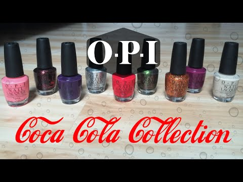 OPI | Coca-Cola Collection | Review, Swatches + Mani