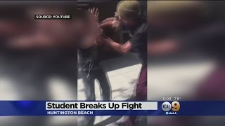 Caught On Video: Huntington Beach High Student Comes To Defense Of Blind Friend And Knocks Out Bully