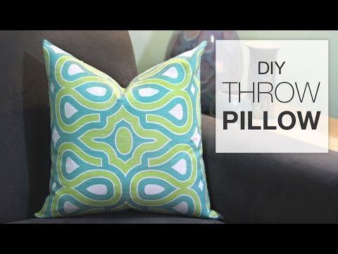 How To Sew A Throw Pillow Tutorial Youtube