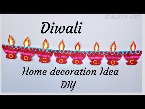 DIWALI Decorations DIYA Wall Hanging - DIY Home Decor