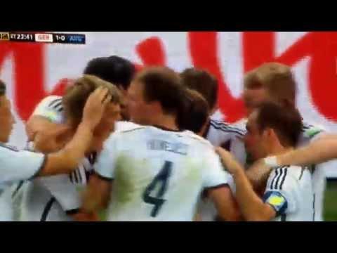 Mario Goetze goal vs Argentina : FIFA WORLD CUP FINAL 2014 . 13/7/14