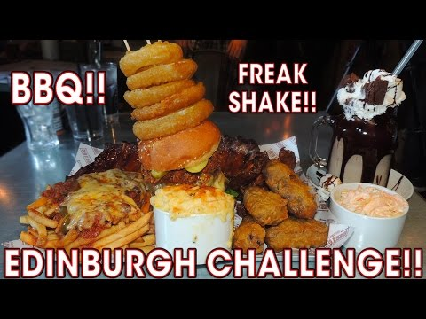 SCOTTISH FOOD CHALLENGE IN EDINBURGH!!