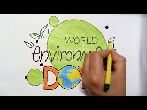 How To Draw Coloring Environment Day Compitition Poster Youtube